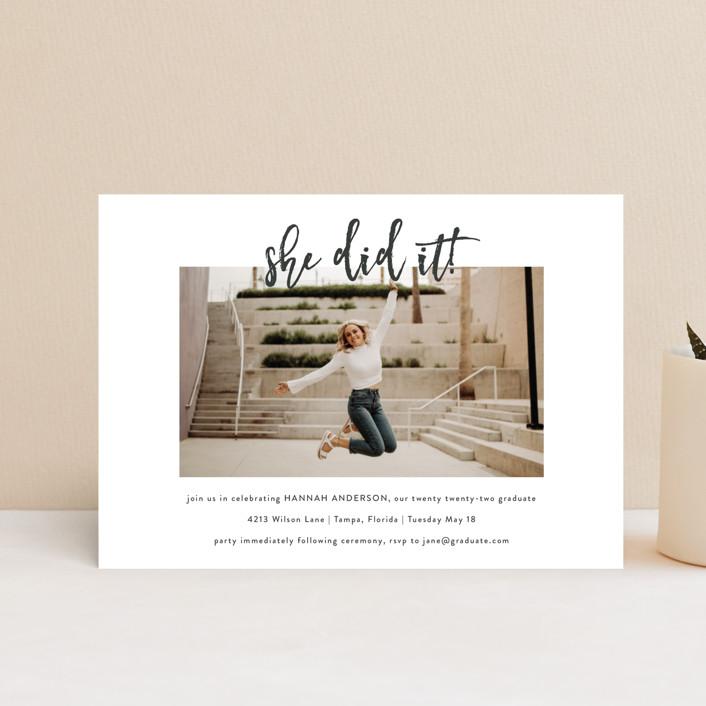 """""""Let's Celebrate!"""" - Graduation Petite Cards in Slate by Kasia Labocki."""