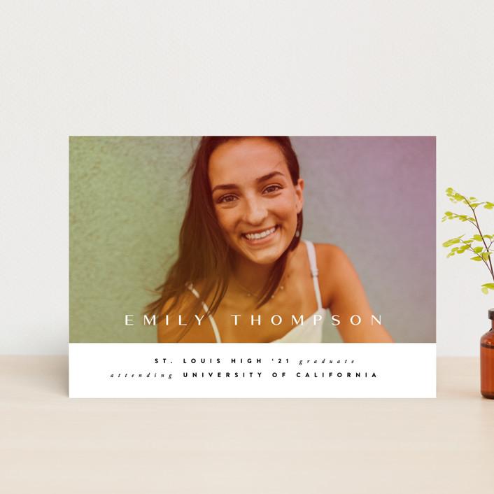 """Sunlight"" - Graduation Petite Cards in Sunset by Ana Sharpe."