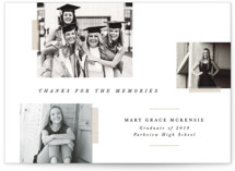 This is a white mini graduation invitation by Bethany McDonald called Memory Book with standard printing on smooth signature in petite.