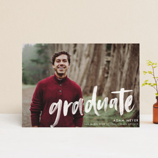 Modern Brush Graduate Graduation Petite Cards