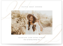 This is a white graduation announcement invitation by Lauren Chism called Softest with standard printing on signature in petite.