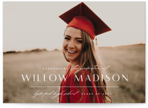 This is a white graduation announcement invitation by Lauren Chism called Modern Mix with standard printing on signature in petite.