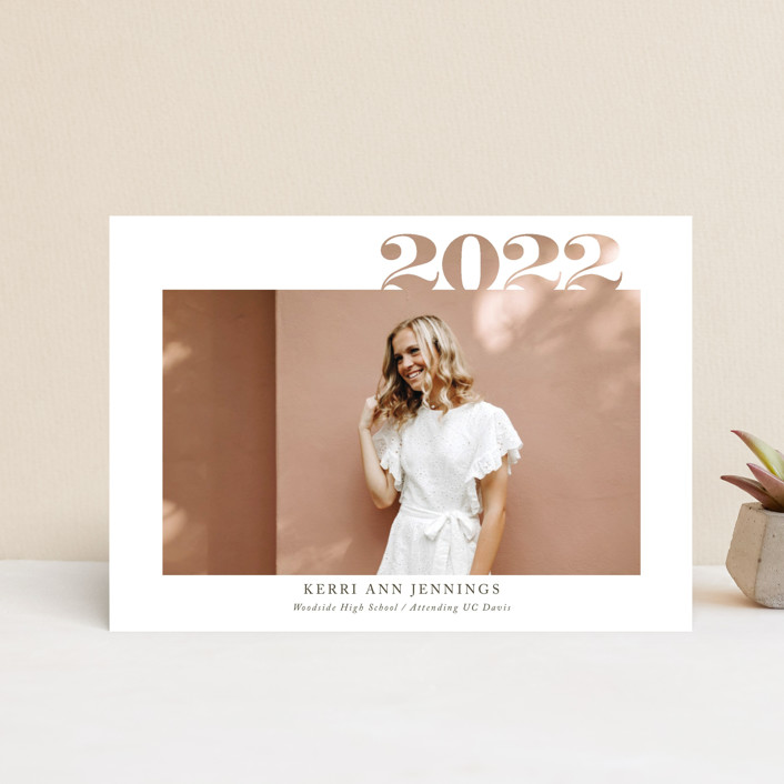 """2020 Cutout"" - Graduation Petite Cards in Ivory by Yaling Hou Suzuki."