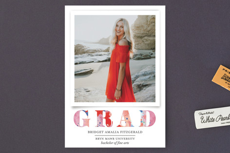 Painted Grad Graduation Petite Cards