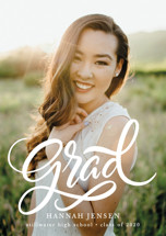 Brush Grad Graduation Petite Cards