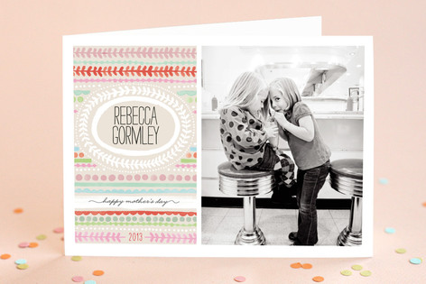 Painted Stripe Mother's Day Greeting Cards