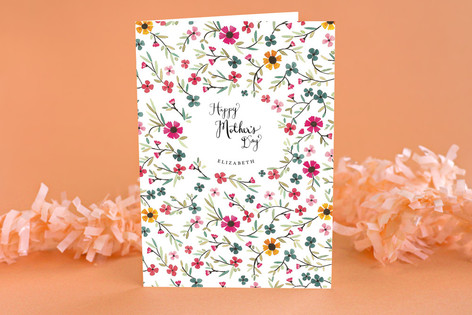 Sweet Blossoms Mothers Day Greeting Cards By Meli Minted