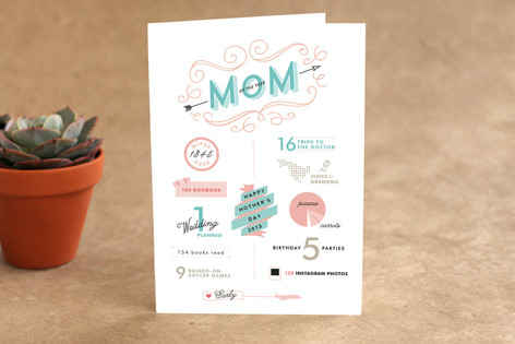 Mother's Day InfoChart Mother's Day Greeting Cards