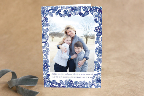 Watercolor Frame Mother's Day Greeting Cards