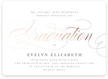This is a grey graduation announcement magnet by Lauren Chism called Formal with foil-pressed printing on magnet paper in magnet.