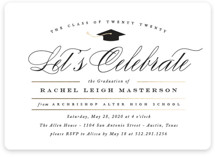This is a gold graduation announcement magnet by Jennifer Postorino called Celebration with foil-pressed printing on magnet paper in magnet.
