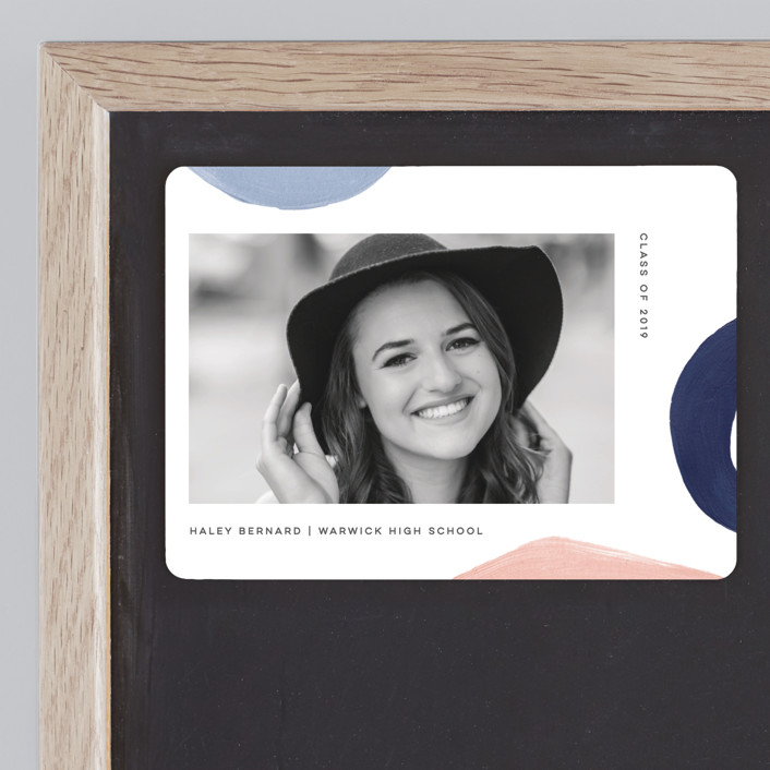 """Modern Abstracts"" - Modern Graduation Announcement Magnets in Day Break by Jessica Maslyn."