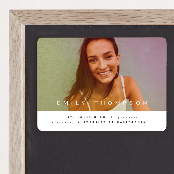 """Sunlight"" - Graduation Announcement Magnets in Sunset by Ana Sharpe."