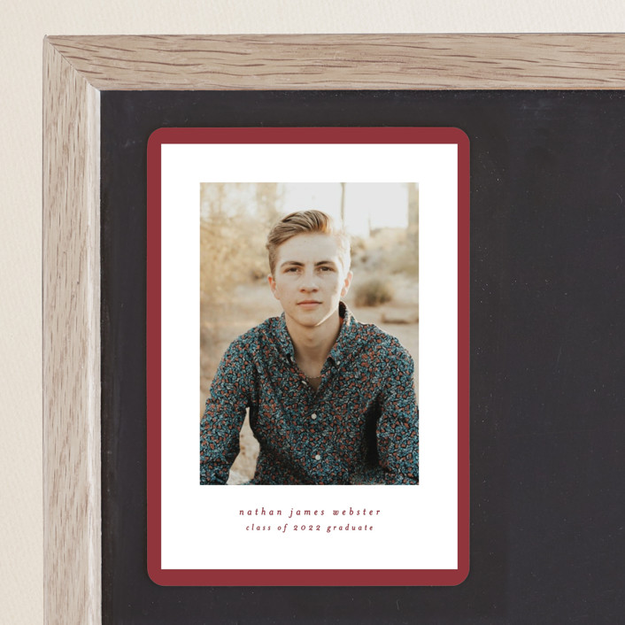 """""""Wrapped"""" - Graduation Announcement Magnets in Bricka by Lea Delaveris."""