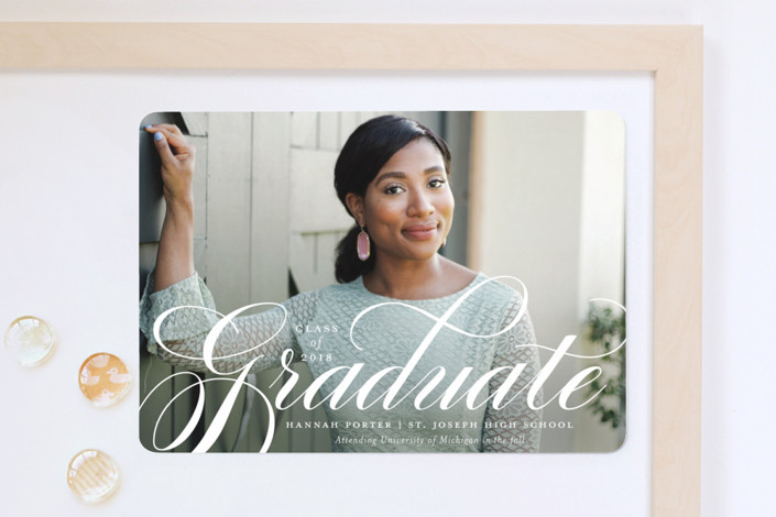 """Formality"" - Graduation Announcement Magnets in Ink by Sarah Guse Brown."