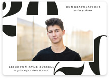 This is a white graduation announcement magnet by Erica Krystek called Big Year with standard printing on magnet paper in magnet.
