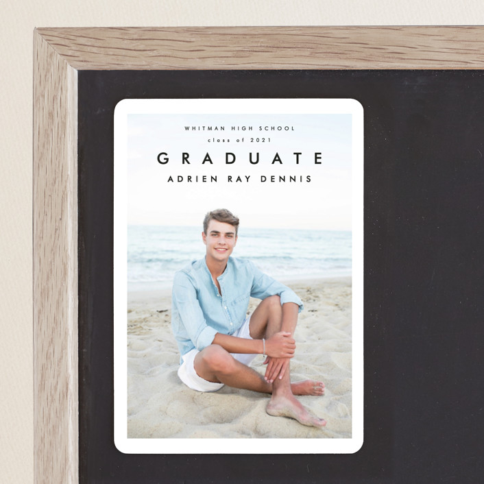 """""""Go Getter"""" - Graduation Announcement Magnets in Abyss by Kelly Stewart."""