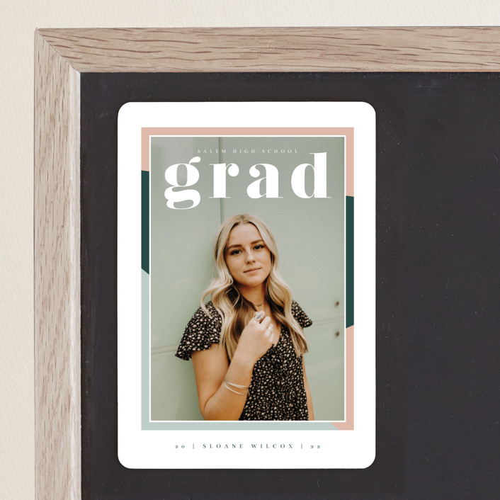 """""""Up Next"""" - Graduation Announcement Magnets in Sorbet by Danie Romrell."""
