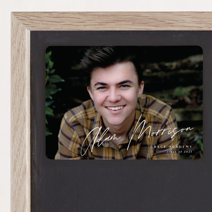 """""""Rising"""" - Graduation Announcement Magnets in Light by Rebecca Daublin."""