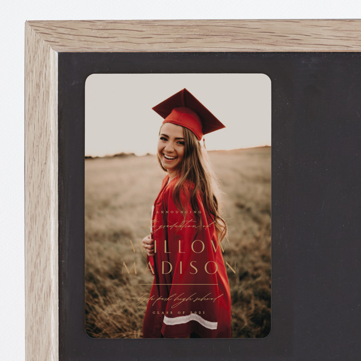 """Modern Mix"" - Graduation Announcement Magnets in Pearl by Lauren Chism."