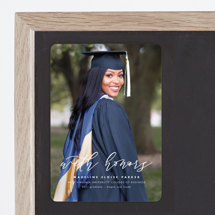 """""""Honored"""" - Graduation Announcement Magnets in Paper by Lea Delaveris."""