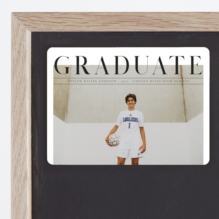 """Bold headline"" - Graduation Announcement Magnets in Cloud by Kann Orasie."