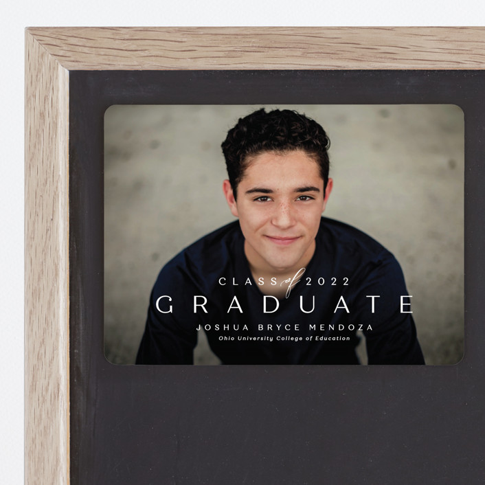 """Forward"" - Graduation Announcement Magnets in Chalk by Lea Delaveris."