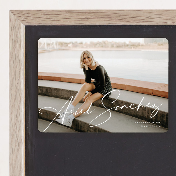 """""""Signatory"""" - Graduation Announcement Magnets in Heron by Rebecca Daublin."""