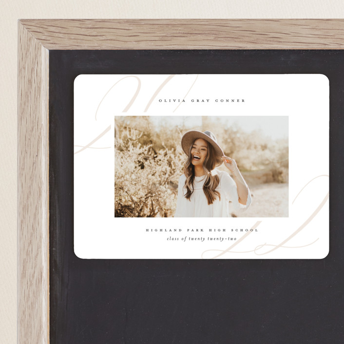 """""""Softest"""" - Graduation Announcement Magnets in Putty by Lauren Chism."""
