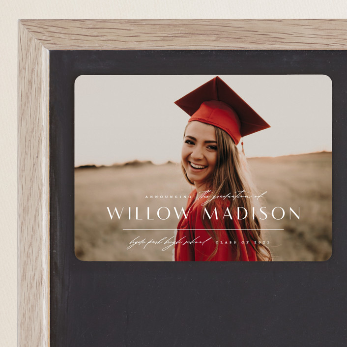"""""""Modern Mix"""" - Graduation Announcement Magnets in Pearl by Lauren Chism."""
