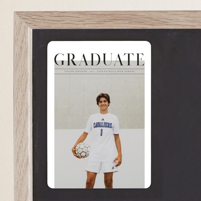 """Bold headline"" - Graduation Announcement Magnets in Cloud by Kann Orasie."