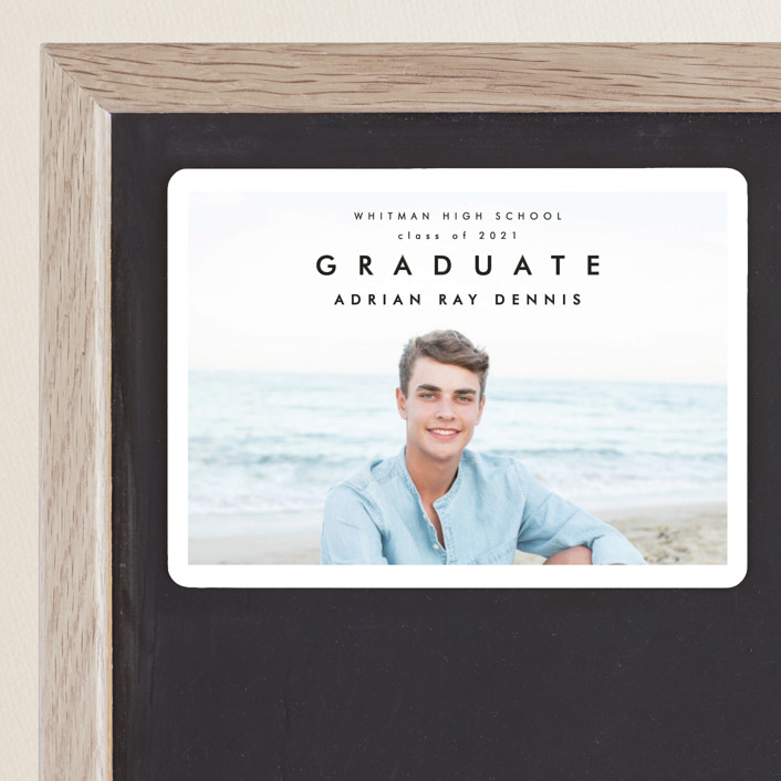 """Go Getter"" - Graduation Announcement Magnets in Abyss by Kelly Stewart."