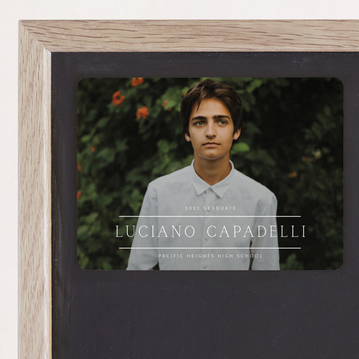 """""""Between The Lines"""" - Graduation Announcement Magnets in Fresh by Kaydi Bishop."""