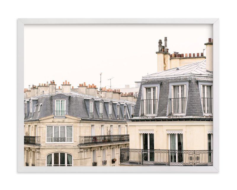 """Parisian Windows"" - Limited Edition Art Print by Annie Montgomery in beautiful frame options and a variety of sizes."