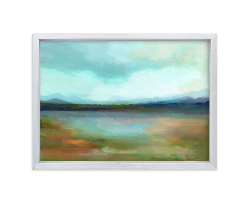 """""""Days of Blue"""" - Limited Edition Art Print by Alison Jerry Designs in beautiful frame options and a variety of sizes."""