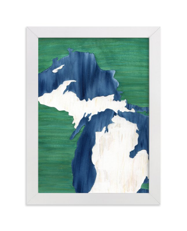 """""""Michigan in Paint"""" - Limited Edition Art Print by Denise Wong in beautiful frame options and a variety of sizes."""