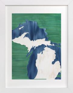 Michigan in Paint Art Print