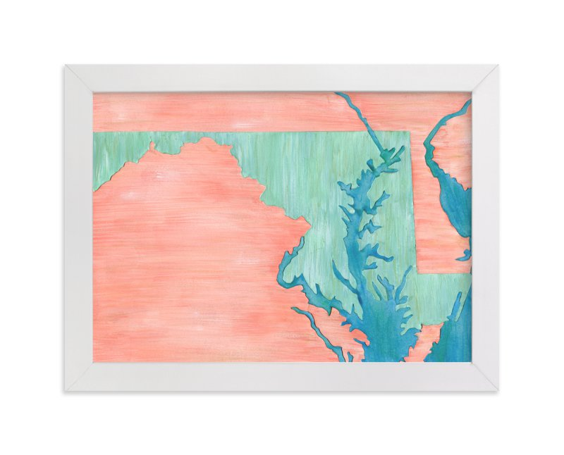 """""""Maryland in Paint"""" - Limited Edition Art Print by Denise Wong in beautiful frame options and a variety of sizes."""