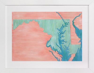 Maryland in Paint Art Print