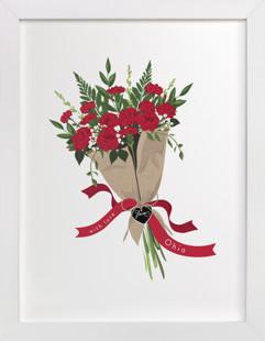 Ohio Scarlet Carnation Bouquet Art Print