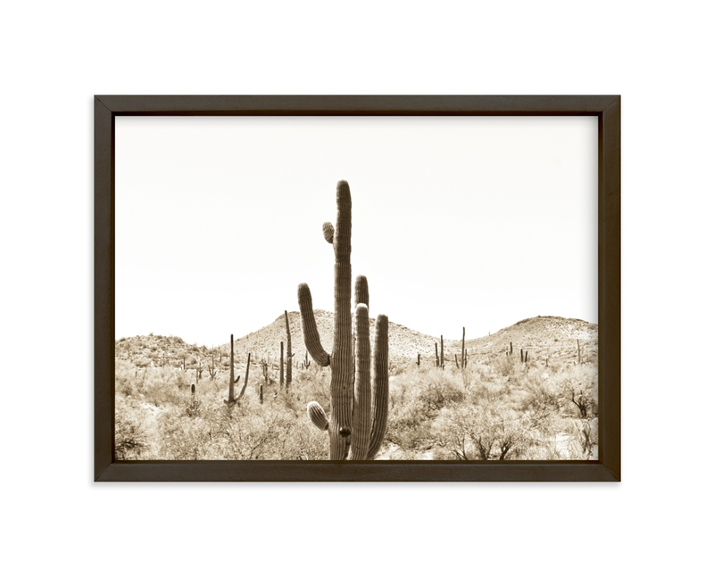 """""""Cacti V"""" - Limited Edition Art Print by Basil Design Studio in beautiful frame options and a variety of sizes."""