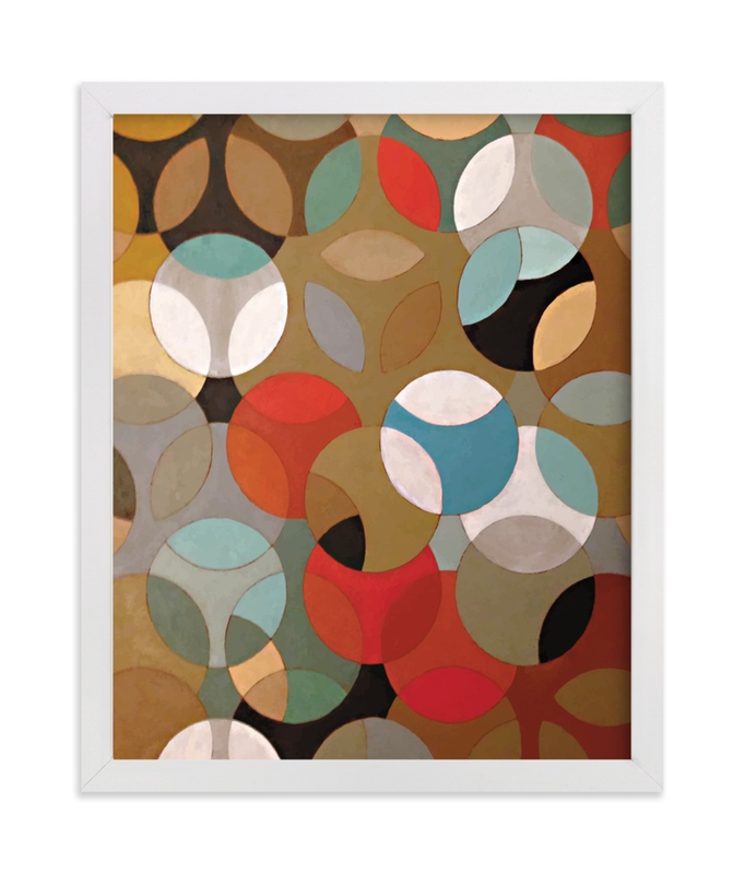 This is a brown art by Lauren Enjeti called Prime Oval.