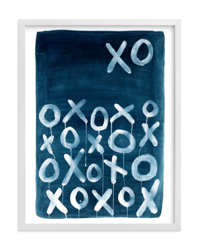 """""""XO Lunar"""" - Limited Edition Art Print by Michelle Owenby Design in beautiful frame options and a variety of sizes."""