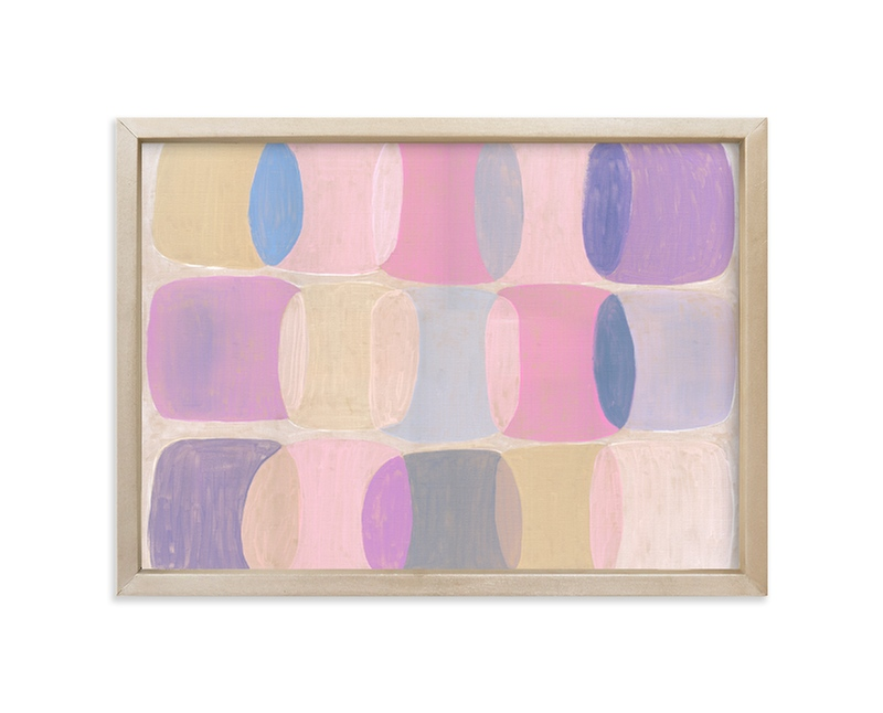 """Painted Geo Overlay"" - Limited Edition Art Print by Amy James in beautiful frame options and a variety of sizes."