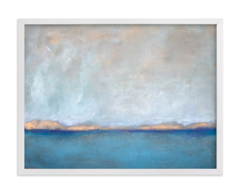 """""""Linen Coast"""" - Limited Edition Art Print by Julia Contacessi in beautiful frame options and a variety of sizes."""