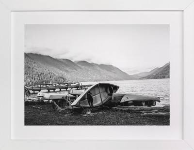 Lonely Lakeside 1 Art Print