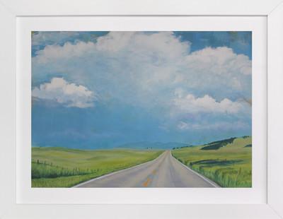Montana Back Road Art Print