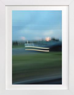 Sunset Headlights Art Print