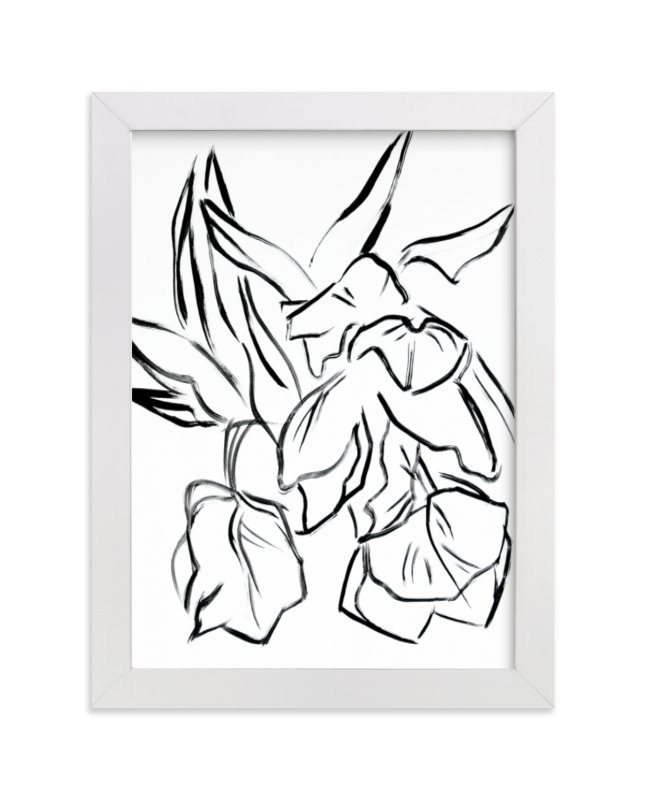 This is a black and white art by Lynne Millar called Parrot Tulips.