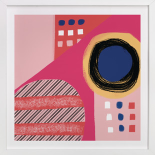 Fun Patterns on Pink Art Print